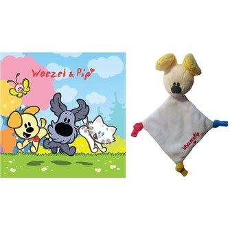 Woezel en Pip Knuffeldoekje mini met kaart - Pip