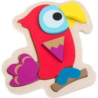 Houten puzzel papegaai