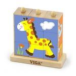 Viga Toys Stapel puzzel - Wilde dieren