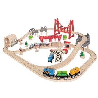 Hape Double Loop houten trein