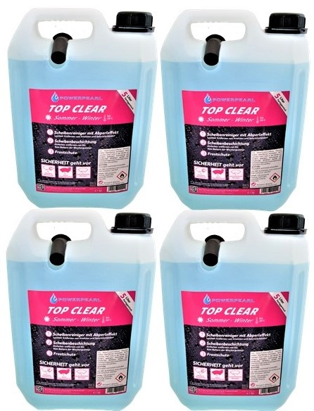 Powerpearl TOP CLEAR Sommer/Winter (-20°) 5L - 4er Pack