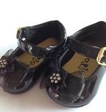 Baby schoen en kinderschoen zwart lak