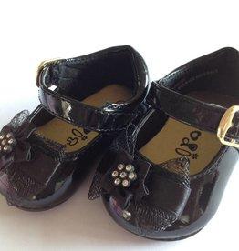 Baby schoentje en kinderschoen zwart lak