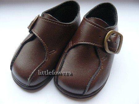 baby schoentje bruin met gespje