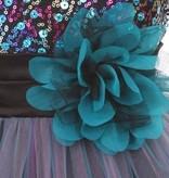 Feestjurk - Bruidsmeisjes jurk Daphne tealbleu