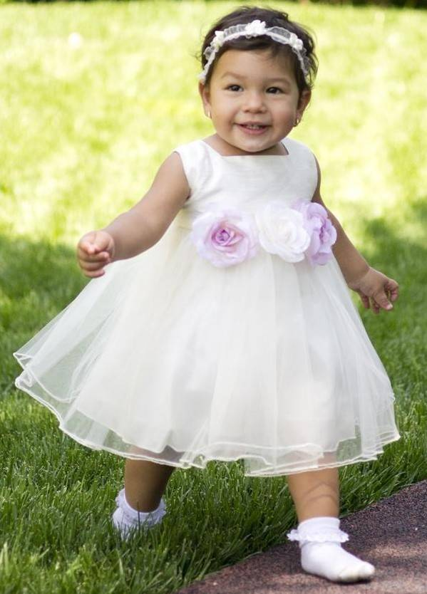 Baby jurk Denise ivoor