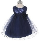 Feestjurk - Bruidsmeisjes jurk Daphne donkerblauw