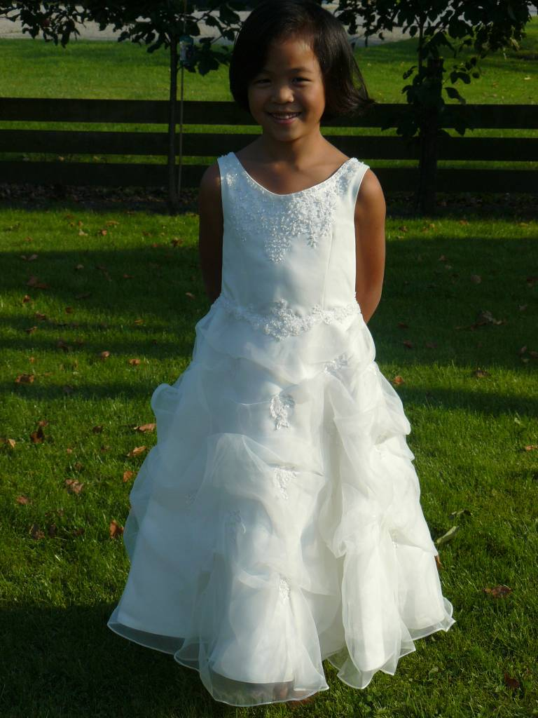 Bruidsmeisjes jurk Mette ivoor