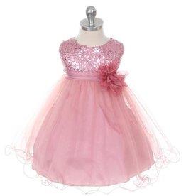 Feestjurk - Bruidsmeisjes jurk Daphne roze