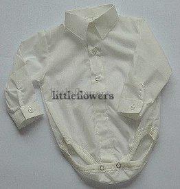 Baby overhemd model romper ivoor