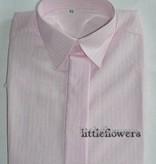 Jongens overhemd roze met  ingeweven streepje