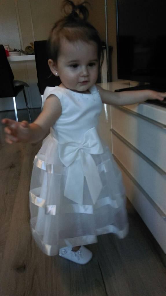 Bruidsmeisjes jurk Sarah ivoor