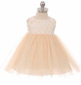 Baby jurk Marlene  licht perzik