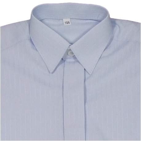 Overhemd lichtblauw met ingeweven streepje