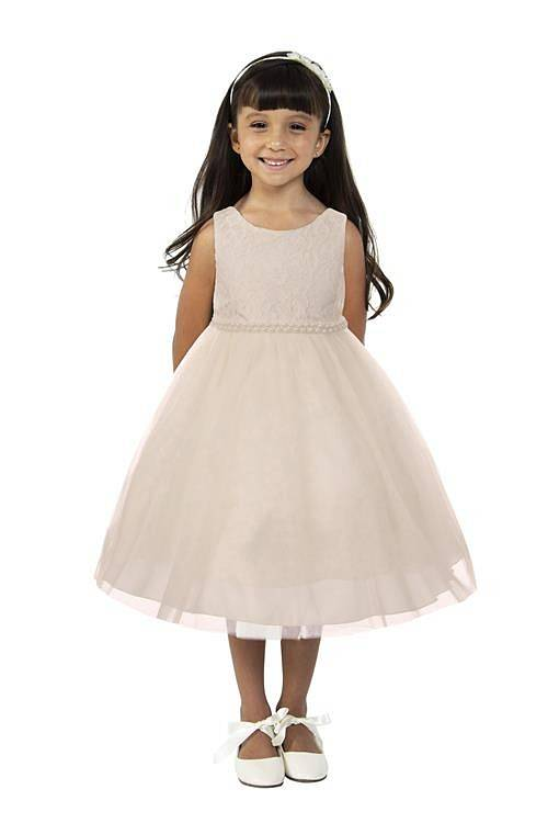 Bruidsmeisjes jurk Lize off-white met parelrand
