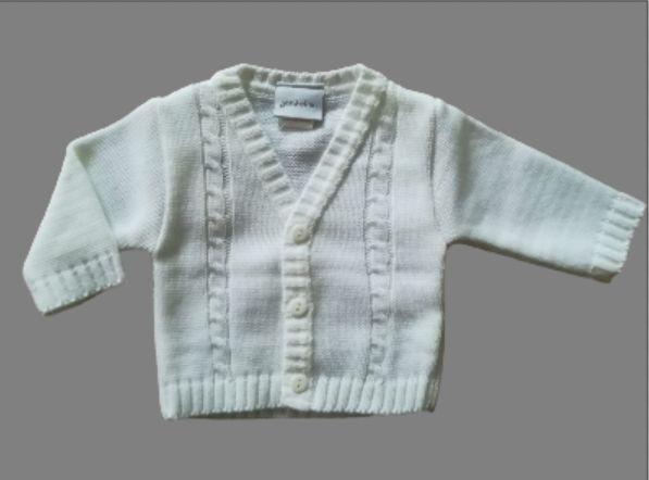 Baby vestje jongen wit