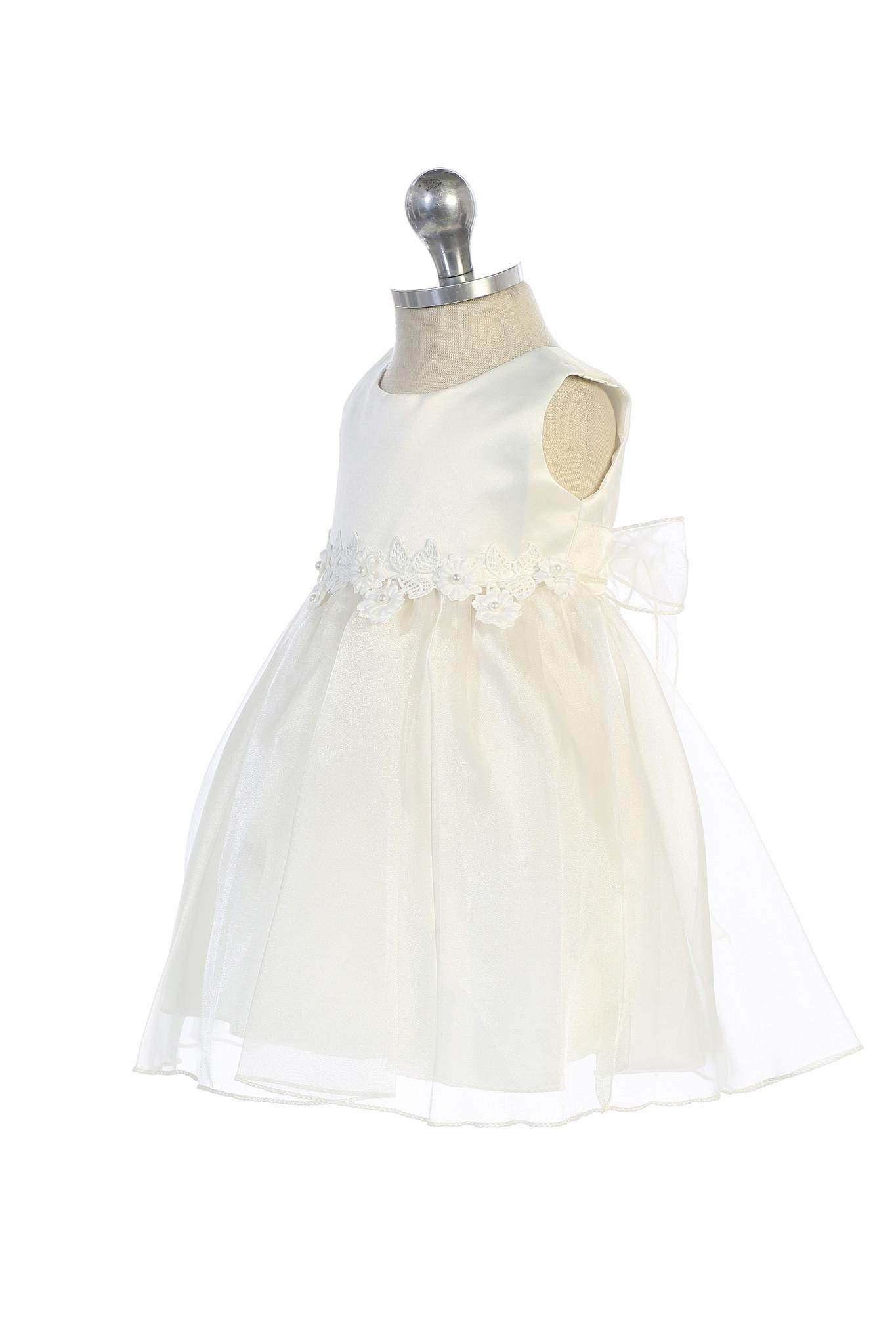 Baby feestjurk bruidsmeisejs jurk  Meike wit