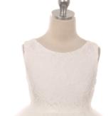 Bruidsmeisjes jurk Lize ivoor met kanten bovenlijfje