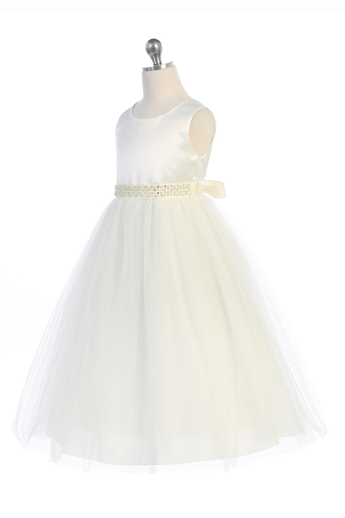 Bruidsmeisjes jurk Krista ivoor