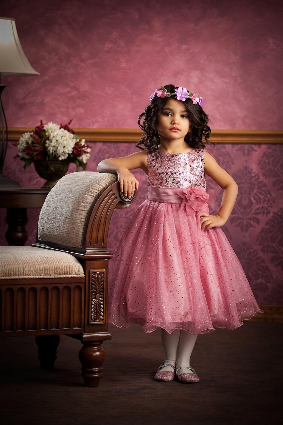 Bruidsmeisjes jurk feestjurk Daphne roze