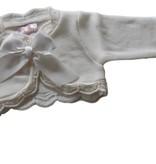 Baby vestje Vera wit met satijnen strik