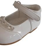 Ivoor schoen met strass steentjes