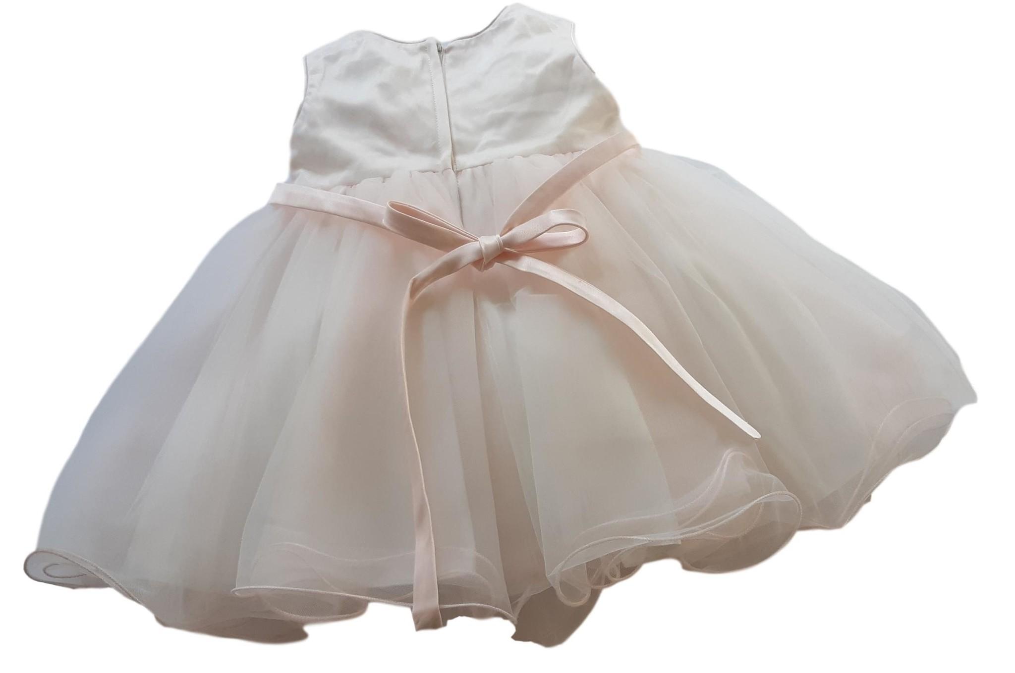Baby jurk Amy blush met tule