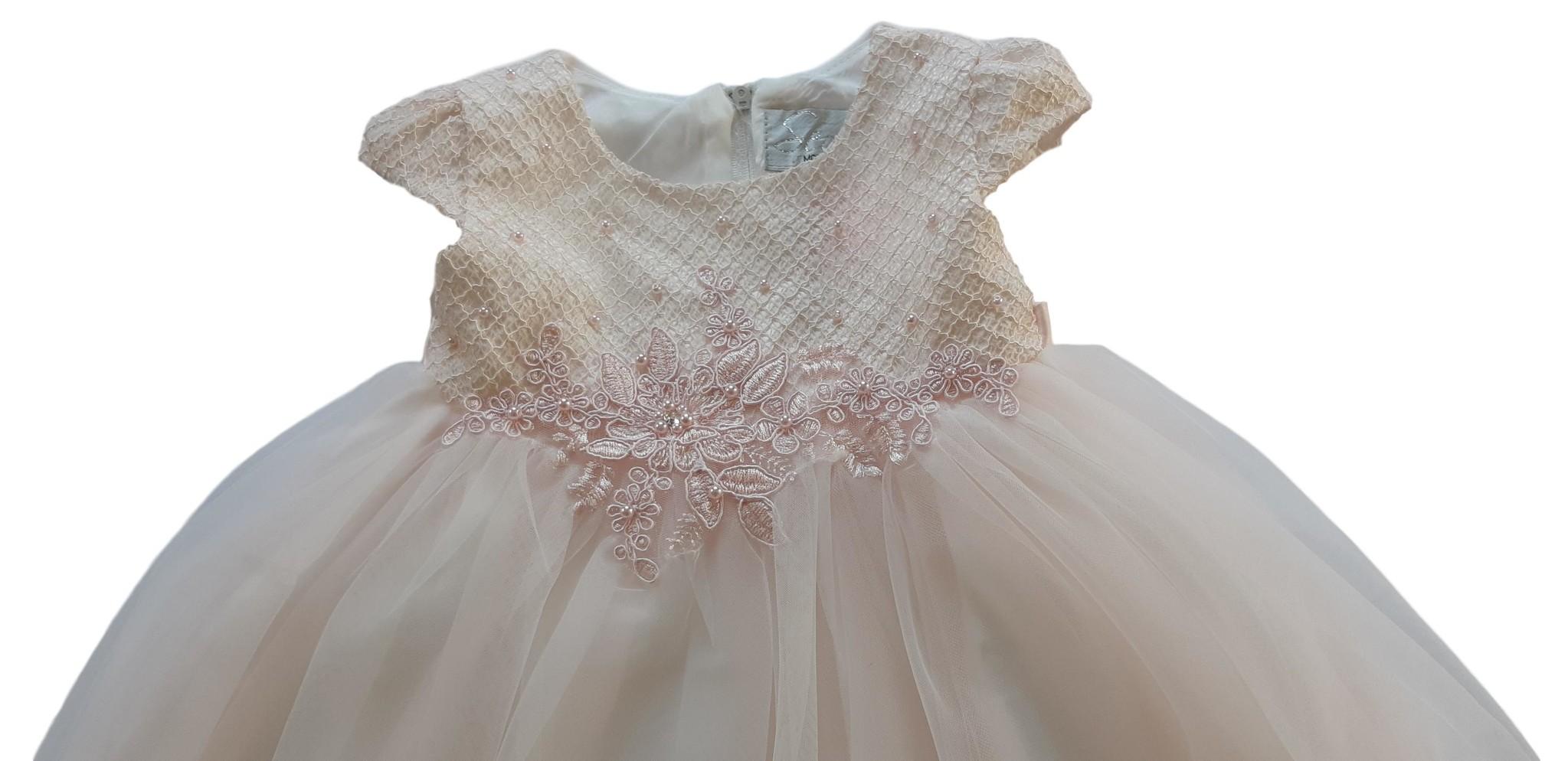 Baby jurk doopjurk Amara poeder roze