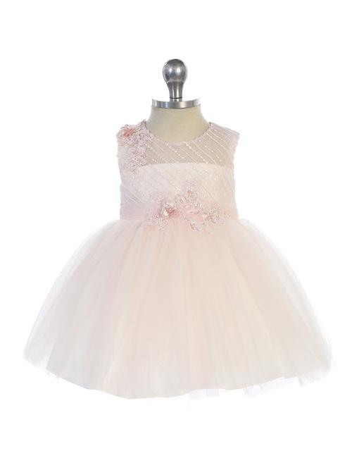 Baby jurk doopjurk Selah blush