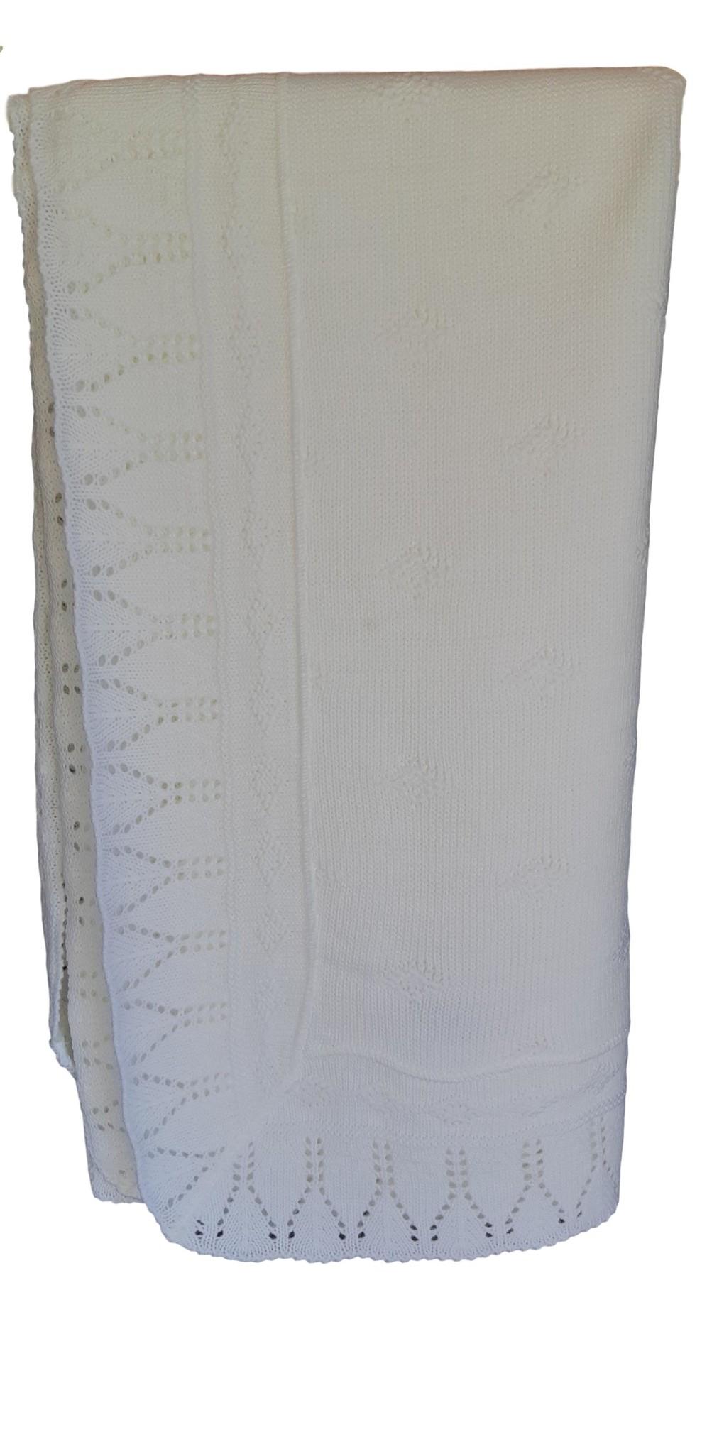 Doopkeed wit met zilverdraad geborduurde tekst