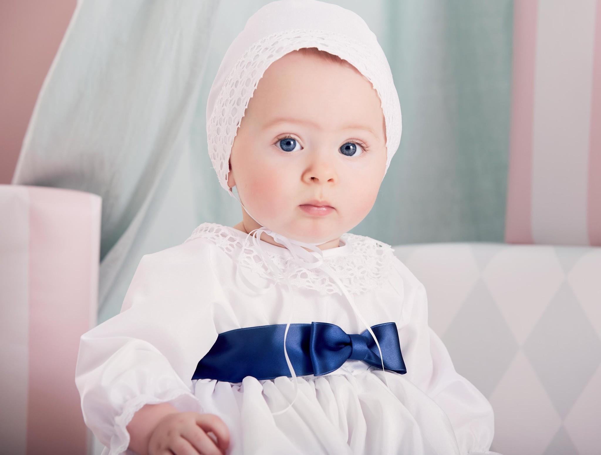 Lilly Doopjurk Célia wit lang model