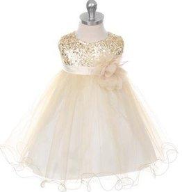 Feestjurk - Bruidsmeisjes jurk Daphne goud - licht geel