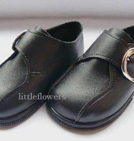 zwart schoentje met zachte loopzool maat 17