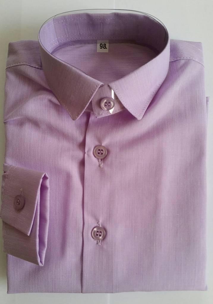Overhemd lila slim fit