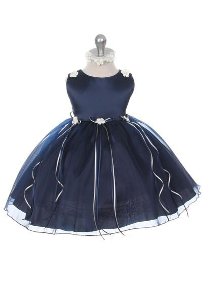 Feestjurk - Bruidsmeisjes jurk  May donkerblauw