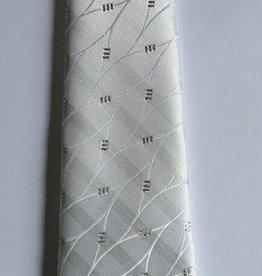 Stropdas wit met strass 32cm nr. 9