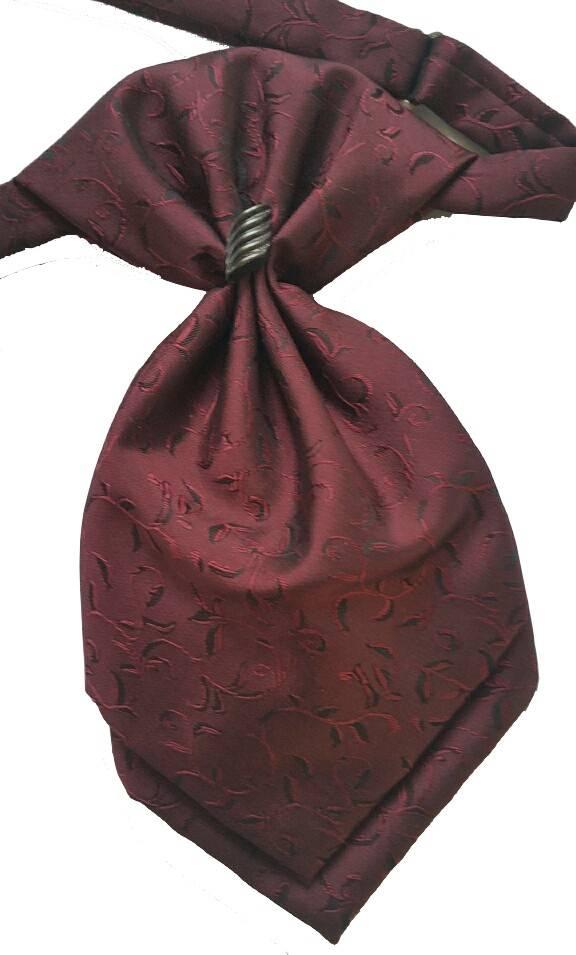 Plastron bordeaux rood c1