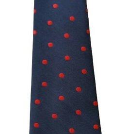 Babystropdas donkerblauw rode stip 16