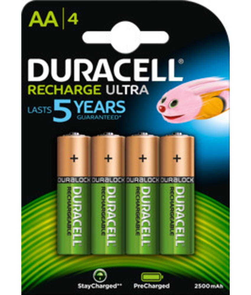 Duracell batterijen oplaadbaar type AA (4 stuks)
