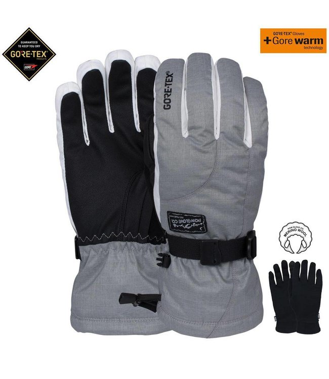 Pow Wmns Crescent GTX Long Glove grijs
