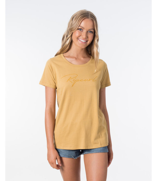 Rip Curl Freestyle Logo Tee Golden