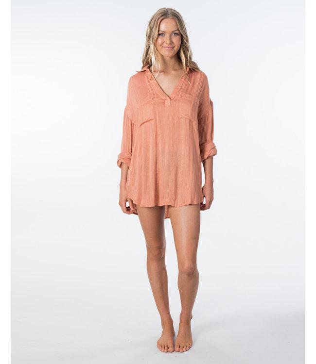 Rip Curl Sunrise Shirt Peach