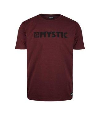 Mystic Brand Tee - Oxblood Red