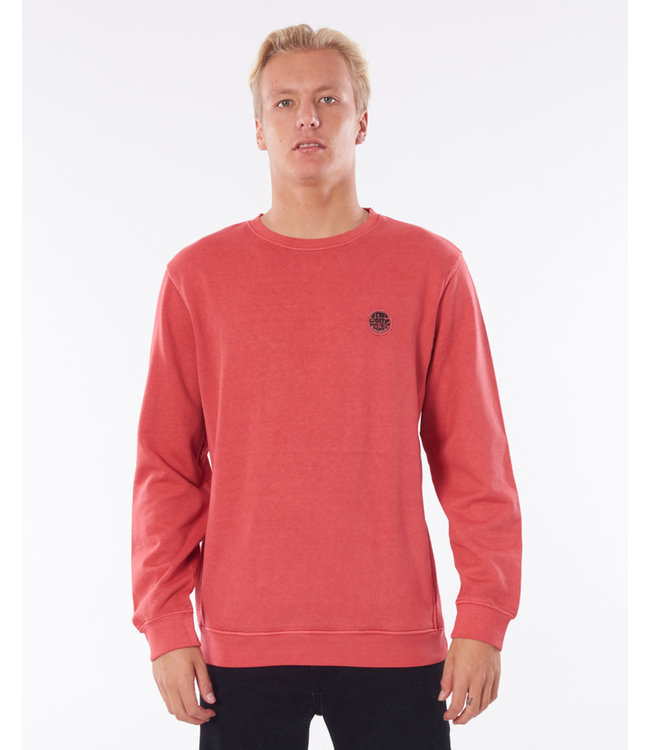 Rip Curl ORIGINAL SURFERS CREW  - WASHED RED