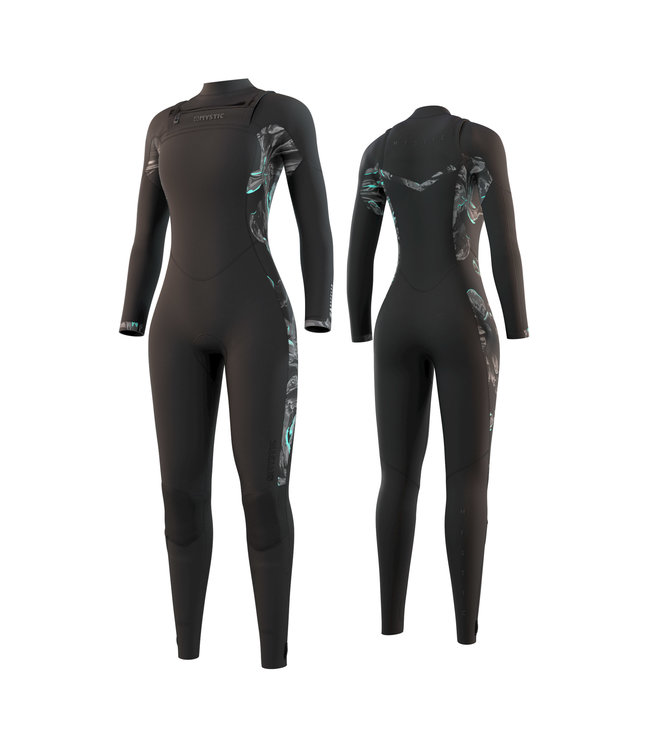 Mystic Dazzled Fullsuit 5/3mm Double Fzip Women - Black