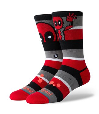 Stance Deadpool Stripe - Rot
