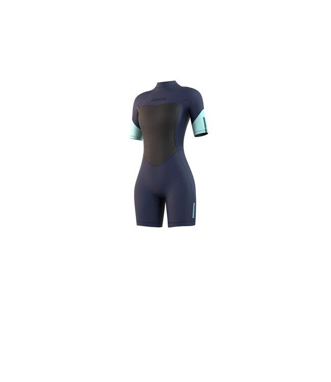 Mystic Brand Shorty 3/2mm Bzip Flatlock Women - Night Blue