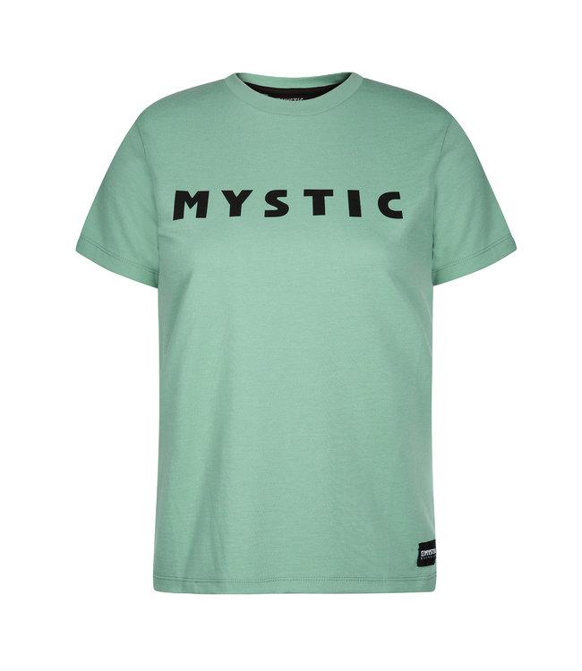 Mystic Brand Tee Women - Seasalt Green