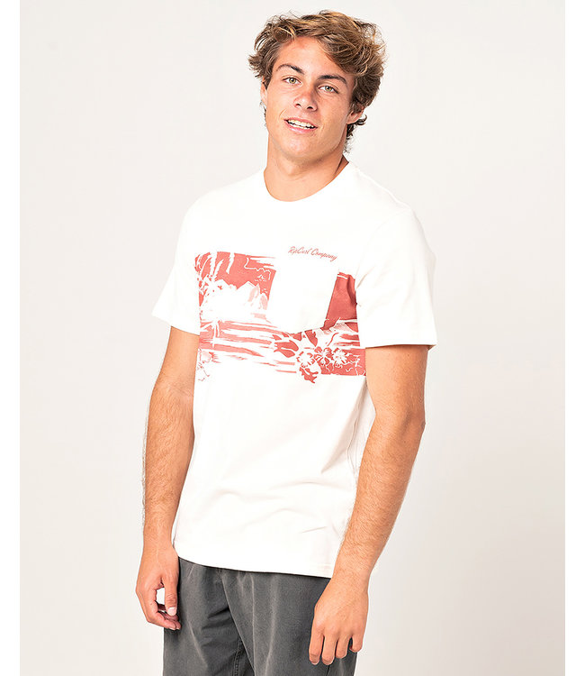 Rip Curl Besetzt Session Tee - Knochen