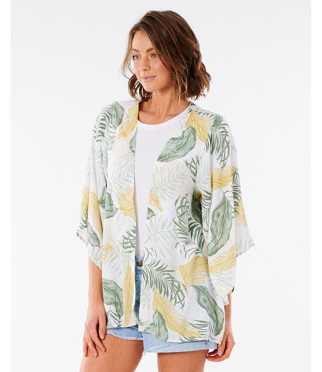 Rip Curl Coastal Palms Kimono  - White